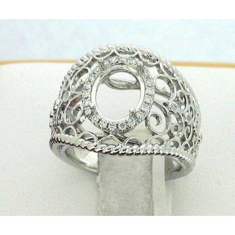 Oval Diamond Fashion Ring