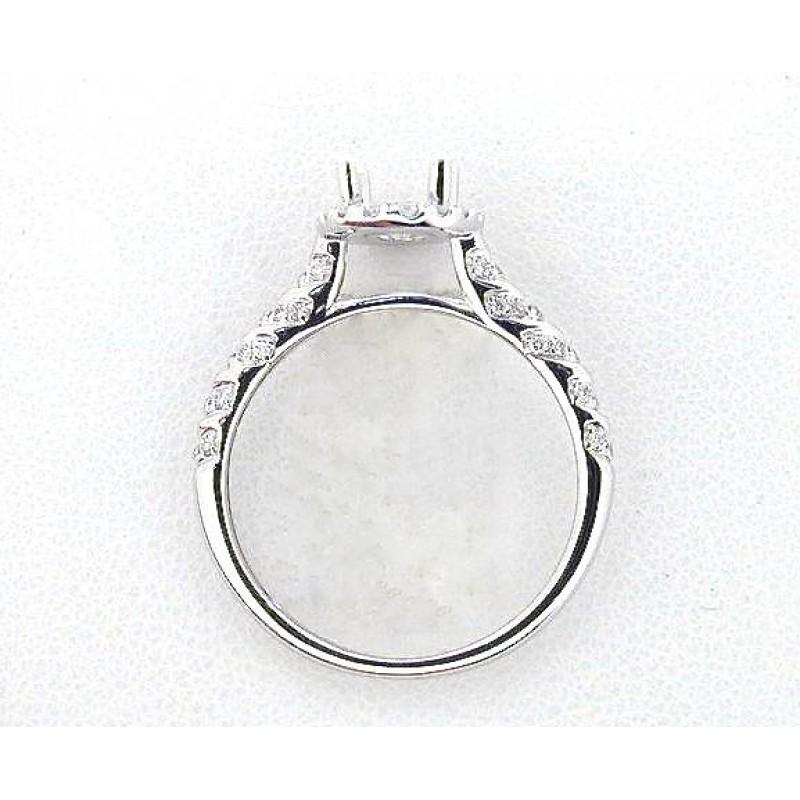 Oval Diamond Wedding Set