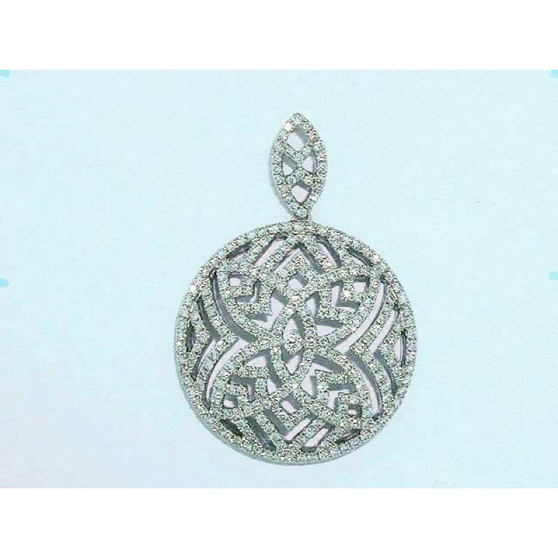 Round Diamond Pendant
