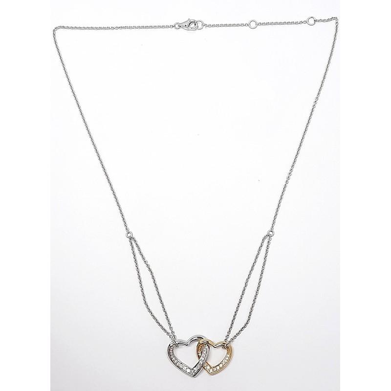 Round Diamond 2-Tones Necklaces