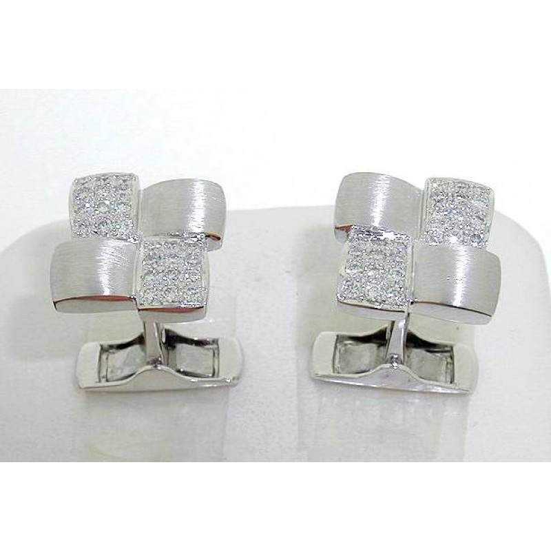 Round Diamond Cufflinks